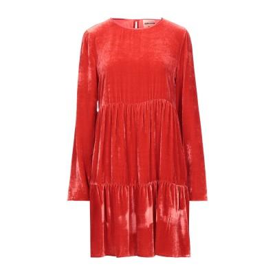 セミクチュール SEMICOUTURE ミニワンピース&ドレス レッド 40 レーヨン 80% / シルク 20% ミニワンピース&ドレス