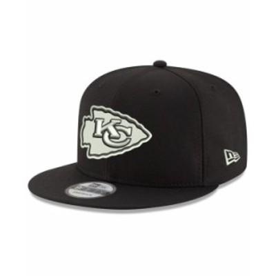 ニューエラ メンズ 帽子 アクセサリー Kansas City Chiefs Basic 9FIFTY Snapback Cap Black/White