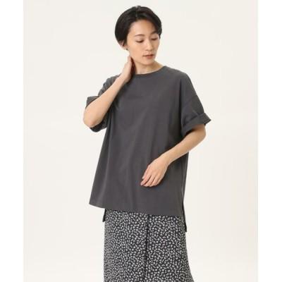 I.T.'S. international/イッツインターナショナル オーバーサイズTシャツ《ブルーサージコットン》 チャコールグレー3 09