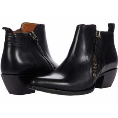 Frye フライ レディース 女性用 シューズ 靴 ブーツ アンクル ショートブーツ Sacha Moto Short Black Antique Pull Up【送料無料】
