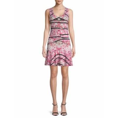 ニコールミラー レディース ワンピース Tidal Pleated Fit-and-Flare Dress
