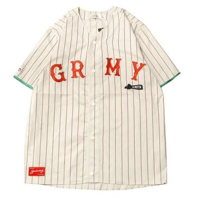 グライミー GRIMEY THE LOOT BASEBALL JERSEY OFF WHITE / オフホワイト 半袖 フットボールシャツ メッシュ ジャージ