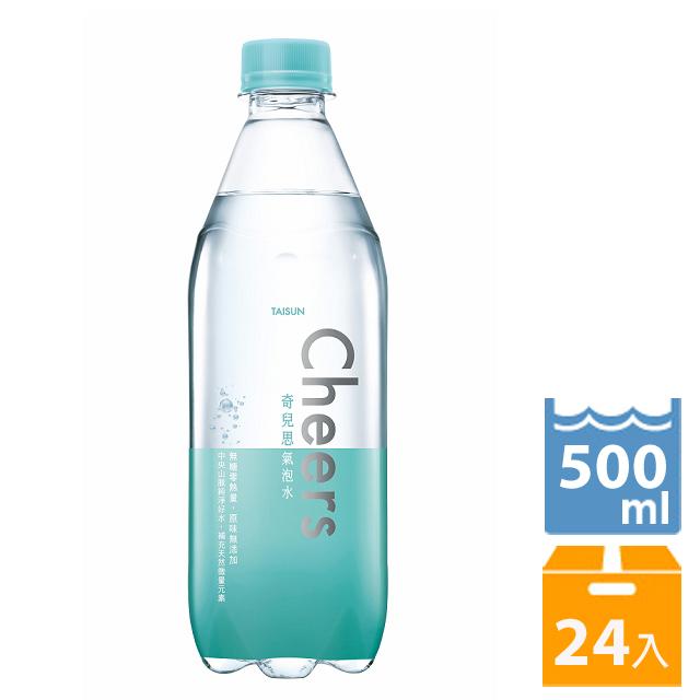 泰山Cheers氣泡水 500ml(24入/箱)