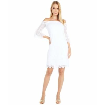 リリーピュリッツァー ワンピース トップス レディース Lexa Dress Resort White Scalloped Shell Lace