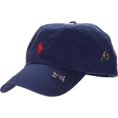 ラルフ ローレン Polo Ralph Lauren メンズ 帽子 Classic Chino Hat Newport Navy/Polo Bear Embroidery