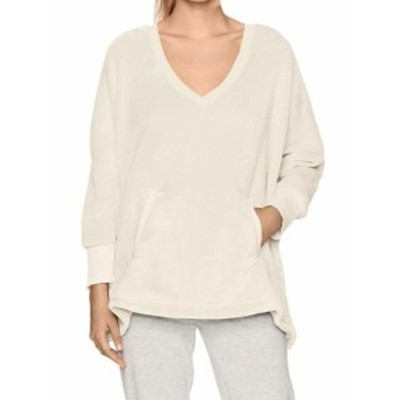 Hue ヒュー ファッション トップス Hue NEW Ivory Womens One Size V-Neck Two Pocket Comfy Robe Sweater