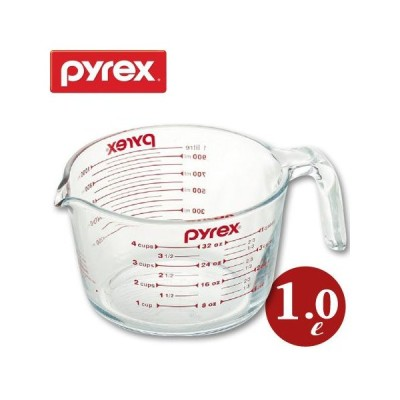 計量カップ 1.0L 耐熱ガラス パイレックス PYREX メジャーカップ 取っ手付き ( 計量コップ 計量器具 目盛り付き )