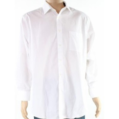 One  ファッション ドレス Arrow NEW Bright White Mens Size XL Solid One Pocket Dress Shirt