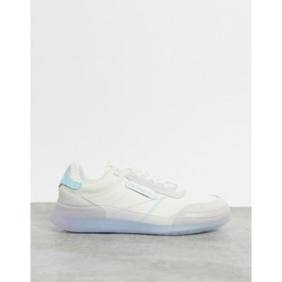リーボック Reebok レディース スニーカー シューズ・靴 Club Legacy trainers in off white with blue detailing ホワイト
