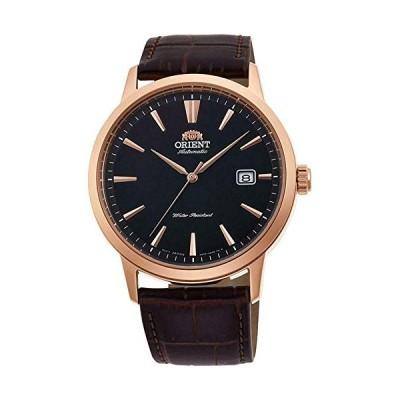 (輸入品)Orient RA-AC0F03B10A Men's Symphony III Rose Gold Tone Black Dial Leather Band Automatic Watch
