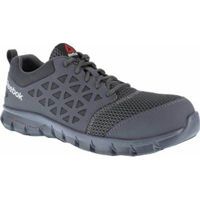 リーボック メンズ スニーカー シューズ Men's Reebok Work Sublite Cushion Work RB4038 Athletic Oxford Grey Microfiber/Mesh