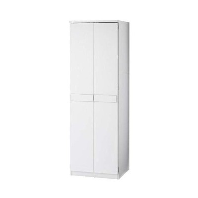 ぼん家具 タンス 壁面収納 木製 クローゼット 扉付き 衣類 収納棚 たんす 収納 ホワイト