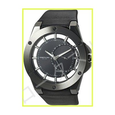 Kenneth Cole New York Men 's ' TRANSPARENCY ' QuartzステンレススチールandレザーDress Watch, Color : Black (Model : 10030785?)