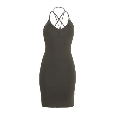 MANGANO ミニワンピース&ドレス ミリタリーグリーン S/M レーヨン 52% / アセテート 48% ミニワンピース&ドレス