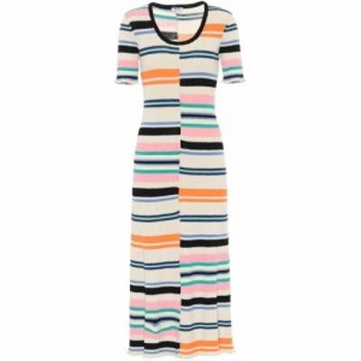 ケンゾー Kenzo レディース ワンピース ワンピース・ドレス Striped cotton-blend sweater dress Multicolor