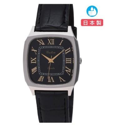CROTON(クロトン)日本製スクエア3針クォーツ メンズ腕時計 RT-164M-01