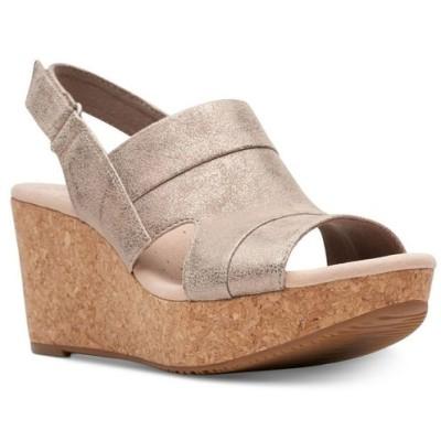 クラークス Clarks レディース サンダル・ミュール ウェッジソール シューズ・靴 Collection Annadel Ivory Wedge Sandals Pewter