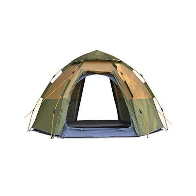 Pop Up Tent,Automatic Instant Tent 5-8 People Tents Family Thickened Rain-Proof Double Layer Camping Tent Green 215cm【海外正規品】