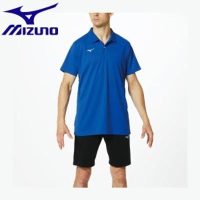 ◆◆送料無料 メール便発送 <ミズノ> MIZUNO ポロシャツ[ユニセックス] 32MA9670 (25:サーフブルー) スポーツウェア