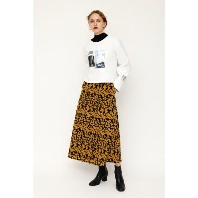スライ SLY GEMMA FLOWER LONG スカート (M/イエロー)