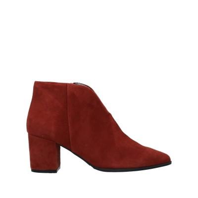 パオラフェリー PAOLA FERRI ショートブーツ 赤茶色 40 羊革(シープスキン) ショートブーツ