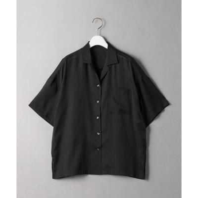 シャツ ブラウス BY シアーオープンカラーシャツ