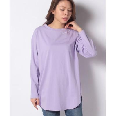 【グレディブリリアン】 天竺ネック刺繍Tシャツ レディース パープル 38 Gready Brilliant