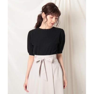 Couture brooch / クール変わり編みスリーブニット WOMEN トップス > ニット/セーター