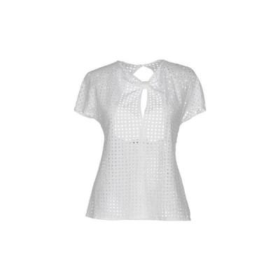 PIERRE BALMAIN レースシャツ&ブラウス ファッション  レディースファッション  トップス  シャツ、ブラウス  長袖 ホワイト