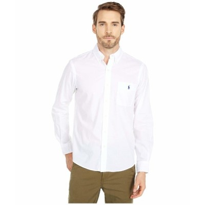 ラルフローレン シャツ トップス メンズ Garment Dyed Chino Shirt White