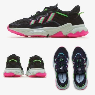 Adidas/アディダス adidas レディース スニーカー ブラック ピンク OZWEEGO オズウィーゴ EE5714