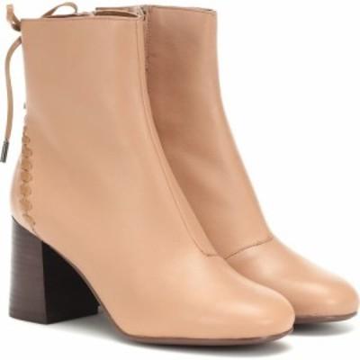 クロエ See By Chloe レディース ブーツ ショートブーツ シューズ・靴 reese leather ankle boots Rosellina