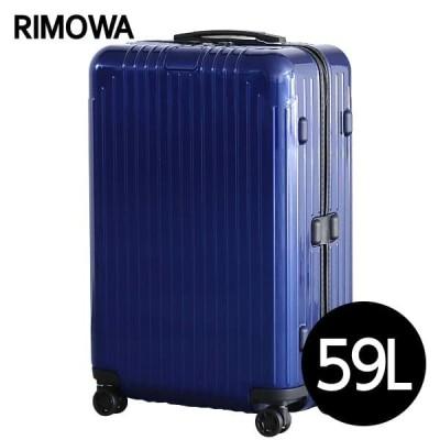 『期間限定ポイント10倍』 リモワ RIMOWA エッセンシャル ライト チェックインM 59L グロスブルー ESSENTIAL Check-In M 823.63.60.4