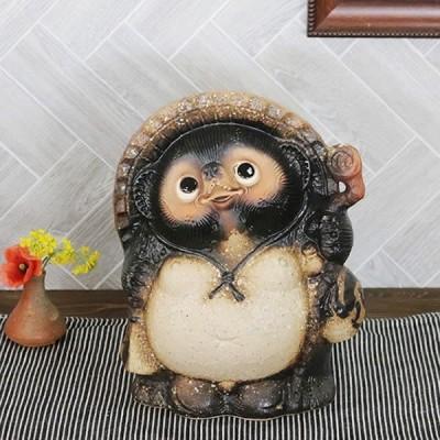 信楽焼 9号福狸  たぬき 縁起物 陶器 たぬき置物 狸  タヌキ陶器 たぬき しがらき やきもの タヌキ 文字入れ 名入れ  ta-0331