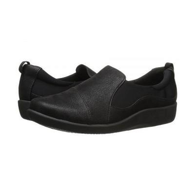 Clarks クラークス レディース 女性用 シューズ 靴 ローファー ボートシューズ Sillian Paz - Black Synthetic Nubuck