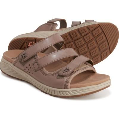 カルソーアースシューズ Earth レディース サンダル・ミュール シューズ・靴 mira loures slide sandals - leather Taupe