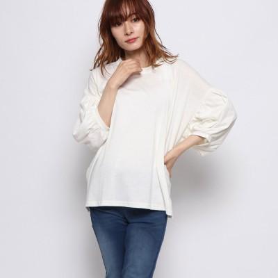ラナン Ranan 袖ボリュームTシャツ (オフホワイト)