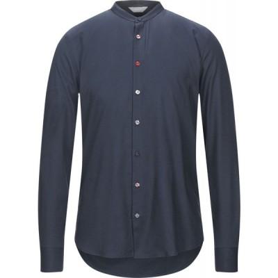 センス SSEINSE メンズ シャツ トップス solid color shirt Dark blue