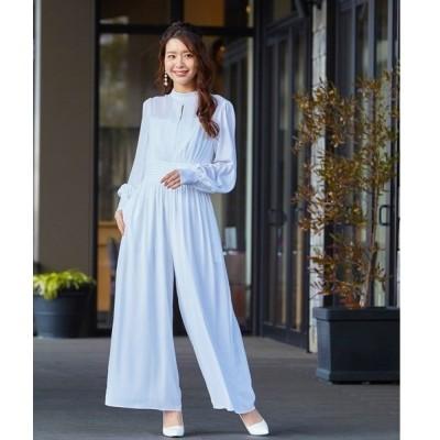 ドレス 【troisieme chaco×formforma】オールインワンシフォンウェディングパンツドレス