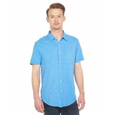 モッドドック シャツ トップス メンズ Montana Short Sleeve Button Front Shirt Blue Clarity