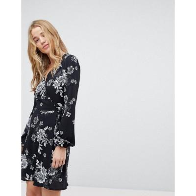 ミスセルフフリッジ レディース ワンピース トップス Miss Selfridge Floral Wrap Dress Print
