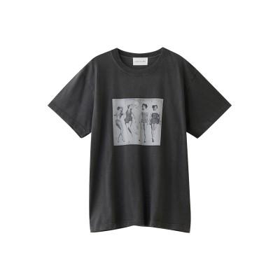 ROSE BUD ローズバッド 【CREOLME】LIFE フォトプリントTシャツ レディース ブラック F