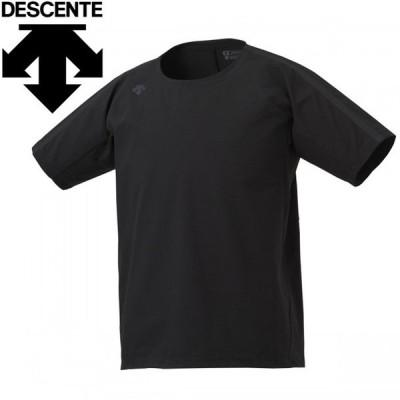 デサント マルチトレ-ニング エアリートランスファー Tシャツ メンズ DMMQJA51Z-BK
