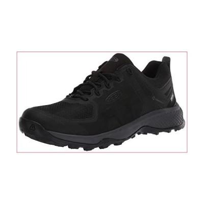 KEEN Men's Explore Waterproof Hiking Shoe, Black/Magnet, Numeric_12(並行輸入品)