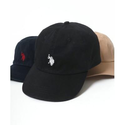 Lazar / U.S. POLO ASSN./ユーエスポロアッスン ツイル ワンポイント 刺繍 ローキャップ MEN 帽子 > キャップ