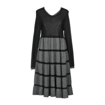 ツインセット シモーナ バルビエリ TWINSET ミニワンピース&ドレス グレー XS 38% レーヨン 35% ナイロン 22% ウール 5%