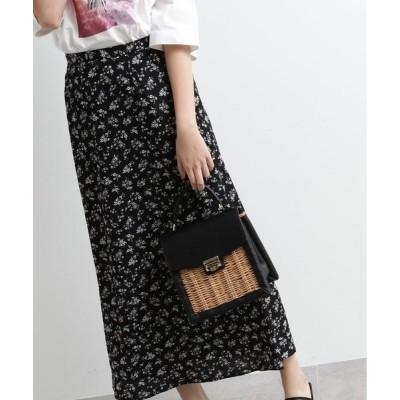 OZOC / オゾック [洗える]花柄ナローマキシスカート
