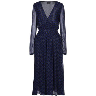 アトス ロンバルディーニ ATOS LOMBARDINI 7分丈ワンピース・ドレス ブルー 40 レーヨン 100% 7分丈ワンピース・ドレス