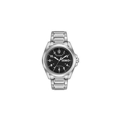 ブラックダイヤルアナログディスプレイとシルバーステンレススチールブレスレットAw0050-82Eと市民Wr100男性ソーラー時計並行輸入