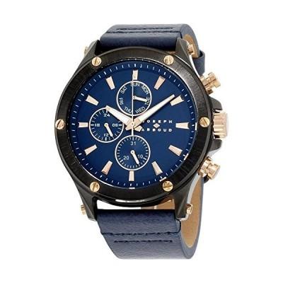 Joseph Abboud海軍ダイヤルレザーストラップメンズ腕時計ja3204bk648???709並行輸入品